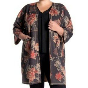 Philosophy Floral Print Open Front Kimono Cardigan